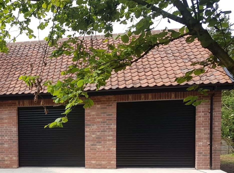 executive double roller garage doors by Rollerdor Ltd